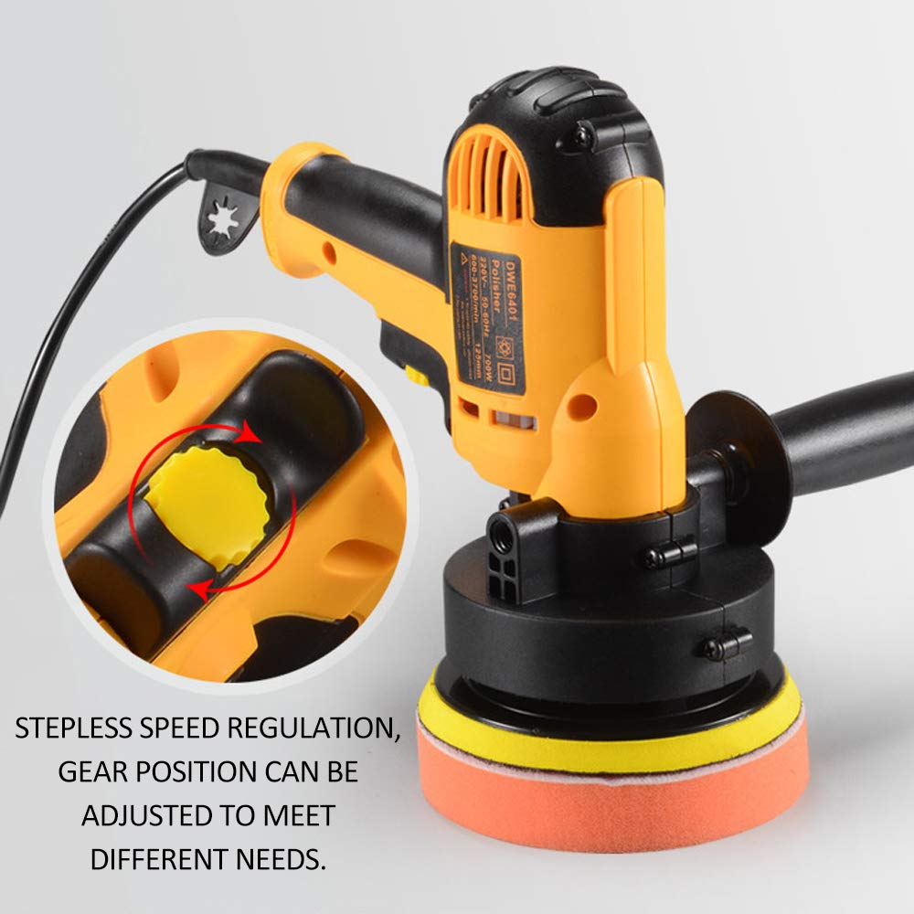 KKmoon 220V Maquinas Pulidoras Coche,700W El/éctrica Pulidora Lijadora Multifuncional Adjustable para Auto//Mueble