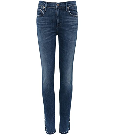 Citizens Of Humanity Mujeres Jeans Skinny Cohete tachas Azul ...
