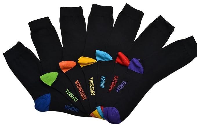 7pares de calcetines para hombre con la inscripción en inglés