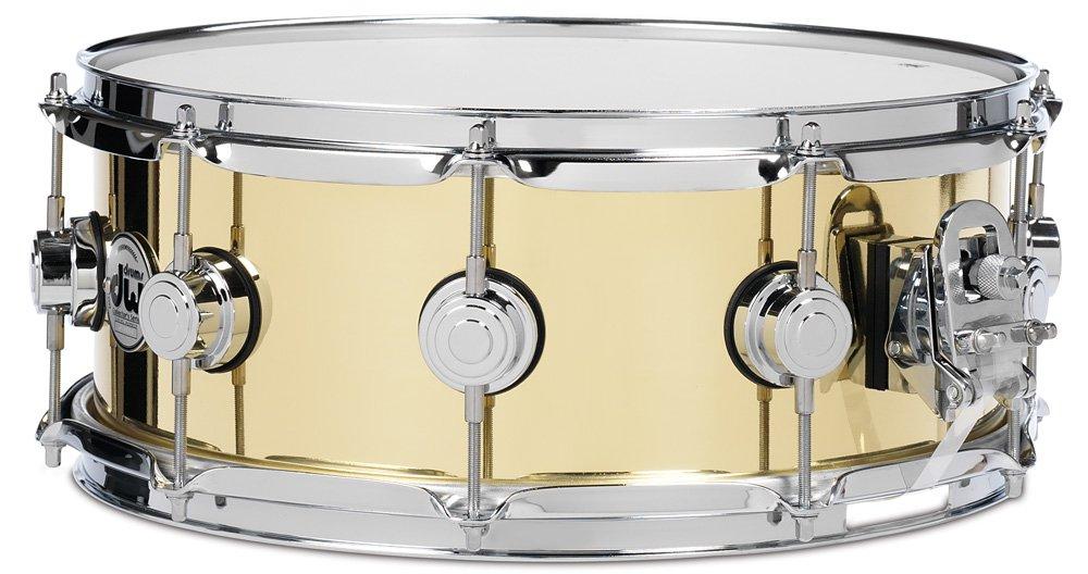 DW 6.5X14 Smooth Brass Snare Drum by Drum Workshop, Inc.
