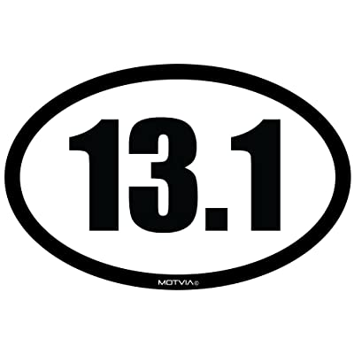 Motvia 13.1 Half Marathon Oval Car Magnet: Automotive
