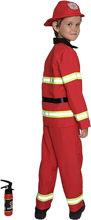 Fearless Firefighter Children/'s Halloween Costume Kids Fireman Suit