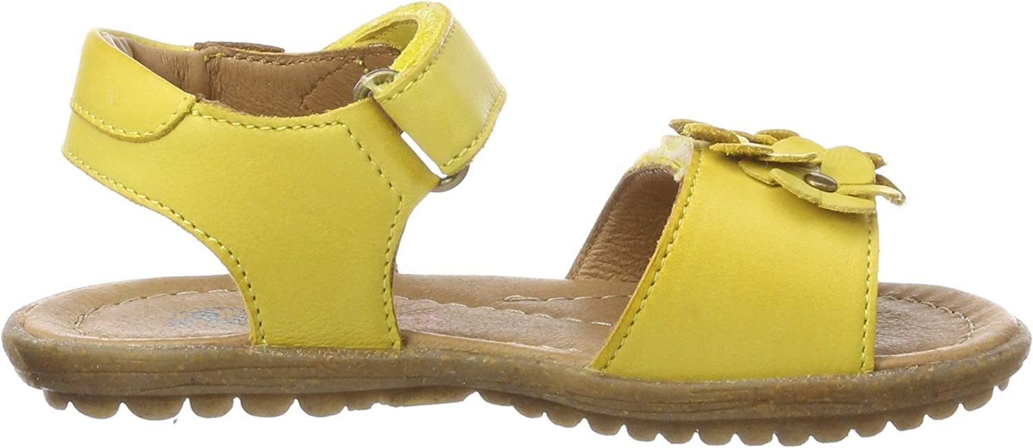 Naturino Spring, Sandales Bout Ouvert Fille Jaune Giallo 0g04