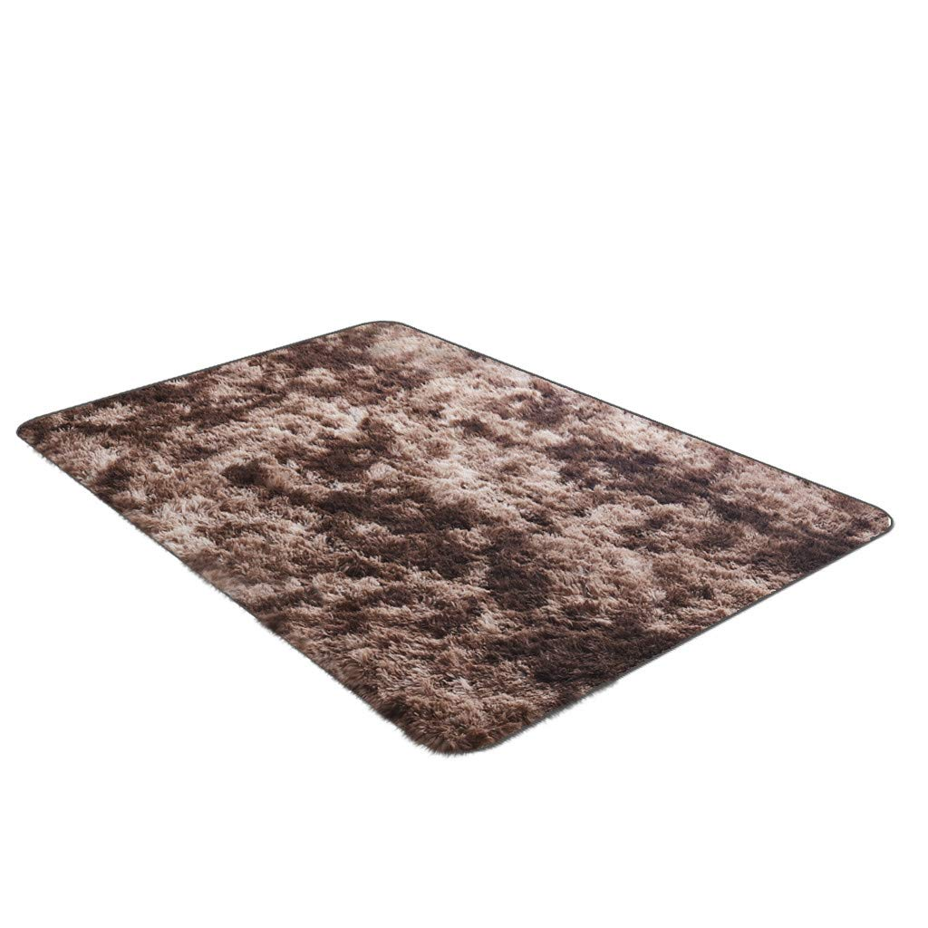XIANAER Area Carpet Super Soft and Comfortable Cotton Plush Floor Mat Bedroom Children's Room Rugs Home Decor Washable 80X52cm by XIANAER