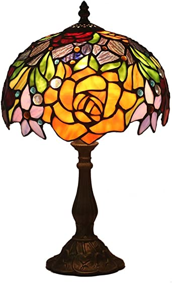 FABAKIRA Tiffany Estilo Lámpara de Mesa 10 Pulgadas Lámpara de ...