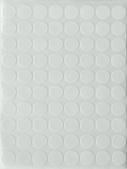 Round stickers dot label in white 1 2 0 5 half inch sticker