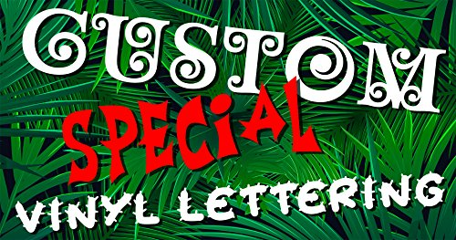 Custom Special Exotic Font Text Vinyl Personalized Lettering Sticker Decal (Vinyl) ()