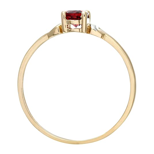 Citerna 9ct Yellow and White Gold Garnet Birth Stone Ring GmG323GSO