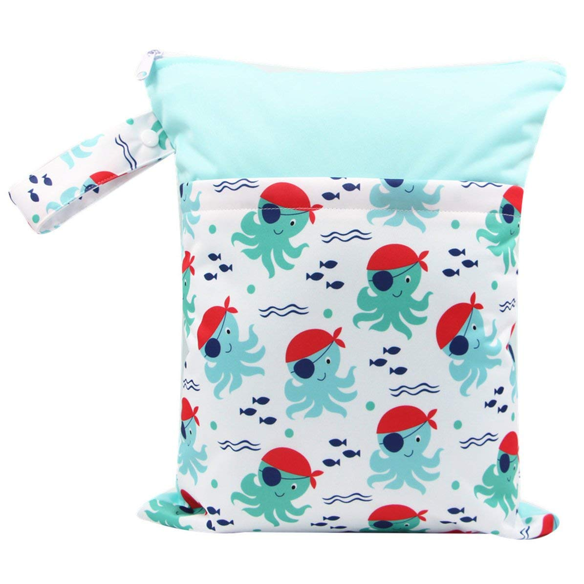 Impermeable Reutilizable Port/átil Pa/ñales de tela Bolso mojado con bolsillo de cremallera Almacenamiento de equipaje de viaje Organizador de bolsa para beb/és beb/és WEIWEITOE