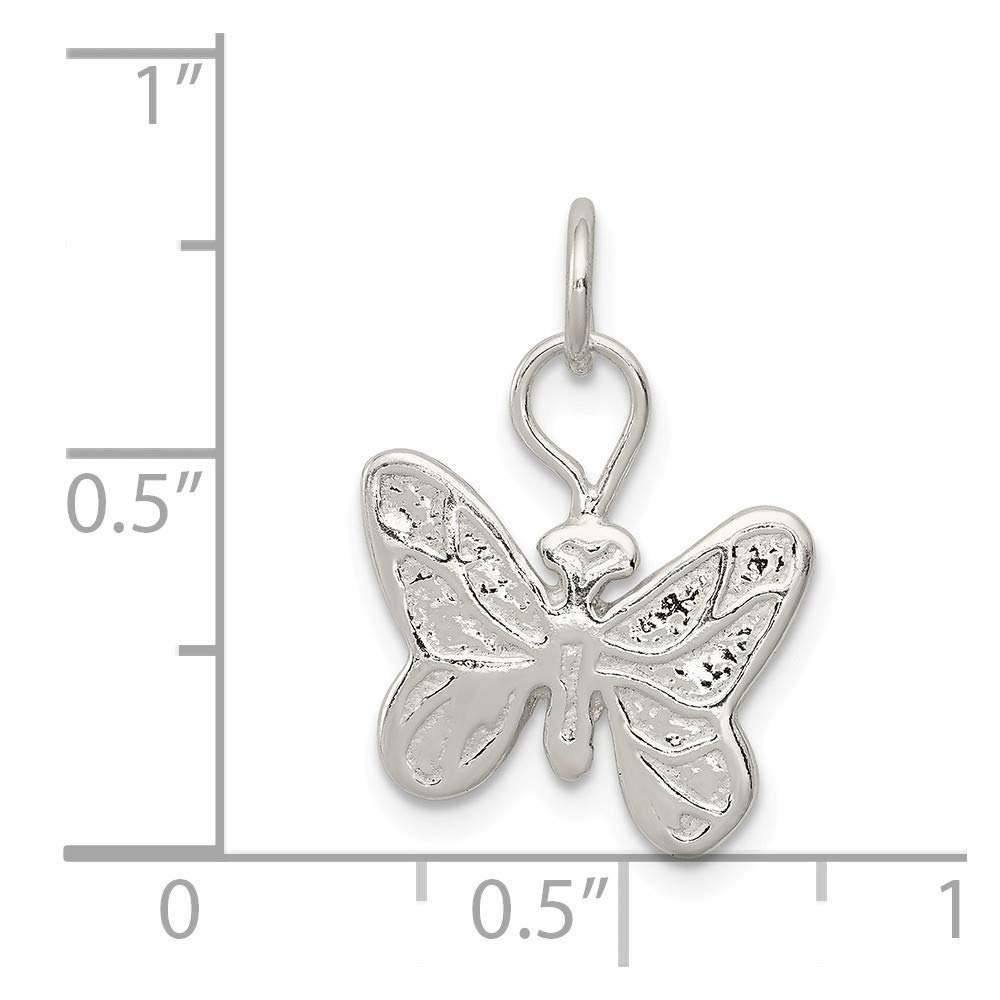 approximately 20 x 15 mm Mireval Sterling Silver Butterfly Charm