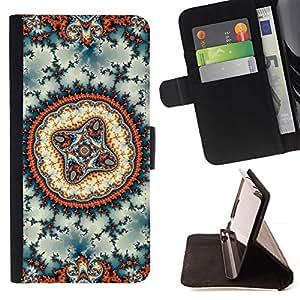 Psychedelic Kaleidoscope Hippie Print - Modelo colorido cuero de la carpeta del tirón del caso cubierta piel Holster Funda protecció Para Apple iPhone 5C