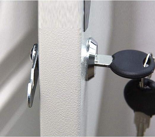 SPTwj - Cerradura de seguridad para buzón (4 unidades, 25 mm de longitud, aleación de zinc, cierre de cajón, color plateado Cada candado tiene una llave diferente): Amazon.es: Bricolaje y herramientas
