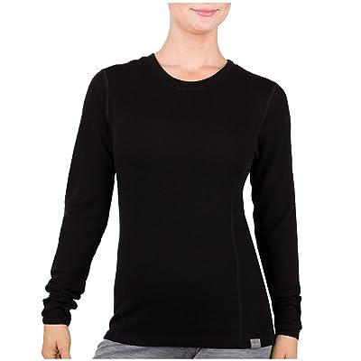 MERIWOOL Womens Base Layer 100% Merino Wool Midweight Long Sleeve Thermal Shirt at Women's Clothing store