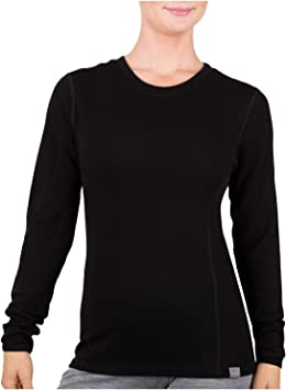 MERIWOOL - Camiseta térmica de manga larga para mujer (100% lana de merino, peso medio): Amazon.es: Deportes y aire libre