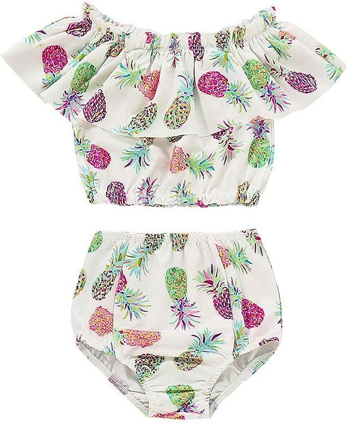 Wang-RX Verano Piña Bebé Niña Niños Baño Traje de baño Bikini ...