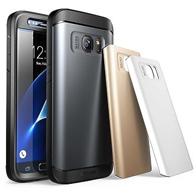 Carcasa para Samsung Galaxy S7 2016, Funda completa resistente al agua SUPCASE con acabado rugoso y con protector de pantalla integrado. Tres ...