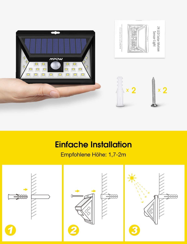 Beleuchtung Solarleuchten sumicorp.com Wandleuchte Energiesparend ...