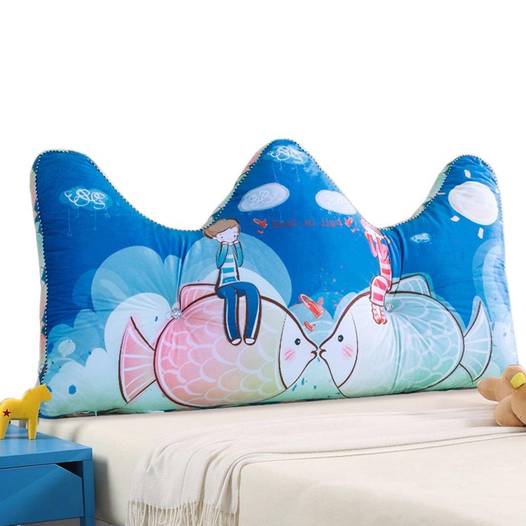 LANNA SHOP- Student Children Large Bedside Cushions Big Back Pillow Double Triangular Cushions Soft Bag Pillow ( Size : 12055cm )