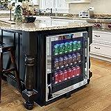 Vinotemp VT-BC54TSSM-L 54-Bottle Mirrored Touch Screen Beverage Cooler, Black