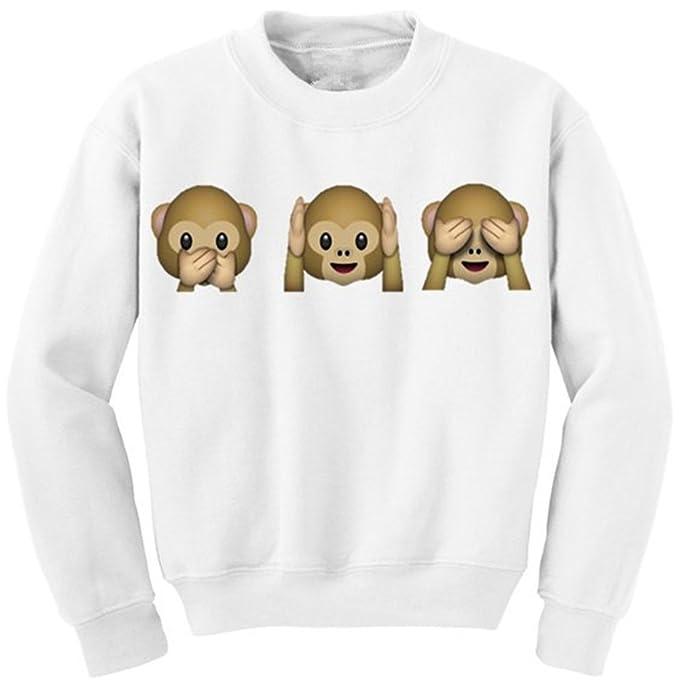 COCO clothing Sudaderas Animales Imprimen de Mujer Basica Sweatshirt Casual Camisetas de Manga Larga Otoño Redondo Universidad Pullover: Amazon.es: Ropa y ...