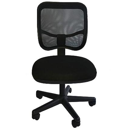 Silla para oficina ergonomica negra Nemo: Amazon.com.mx ...