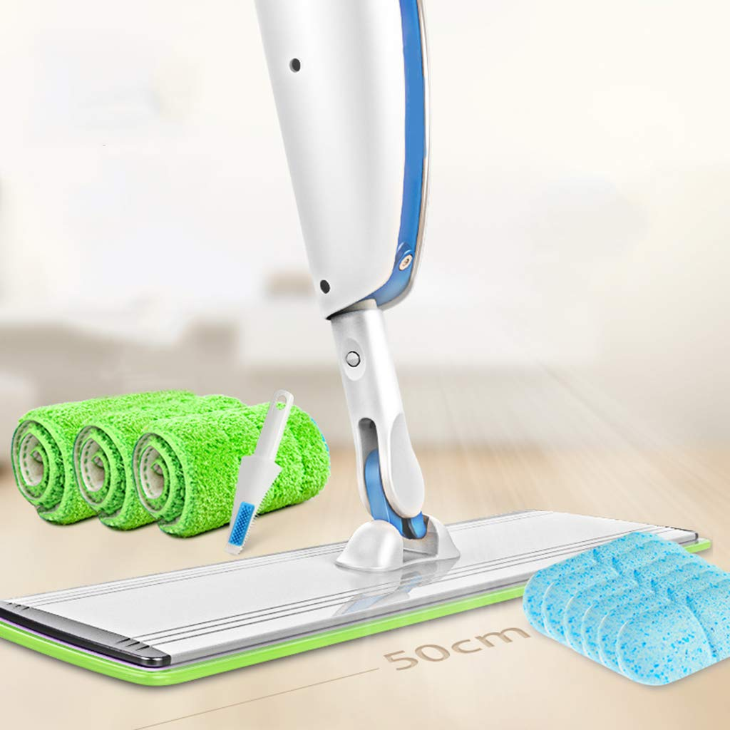 DDayuer Sweeper Dry and Wet Washable Pads Perfect Cleaner for Hardwood Laminate Microfiber Mop Floor Cleaning System & Tile 360 Dry Wet Reusable Dust Mops,White by DDayuer