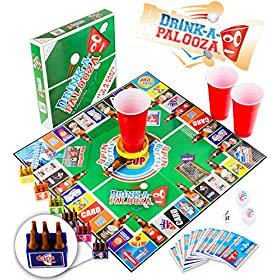 DRINK-A-PALOOZA Board Game: Fun Drinking Games for Adults & Game Night Party Games | Adult Games