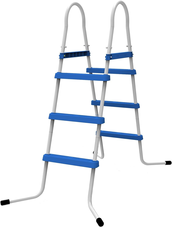 Jilong Escalera para Piscina de 3 Niveles, Alturas de hasta 90 cm, Azul, 80 x 60 x 120 cm, 29r144: Amazon.es: Jardín