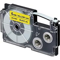Casio XR-6YW1 Standard Ez Label Tapes, 0.0402 kilograms