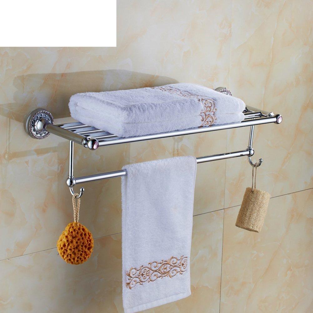 DIDIDD Shelf-Continental Towel Rack/Copper-Studded Towel Rack/Bathroom Bathroom Towel Bar/Bathroom Hardware Accessories