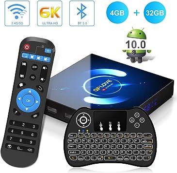 Android 10.0 TV Box, QPLOVE Q6 4GB RAM 32GB ROM H616 Quad-Core 64bit, 2.4/5GHz WiFi 6K / 4K Ultra HD / 3D / H.265 Smart TV Box con Mini Teclado inalámbirco: Amazon.es: Informática