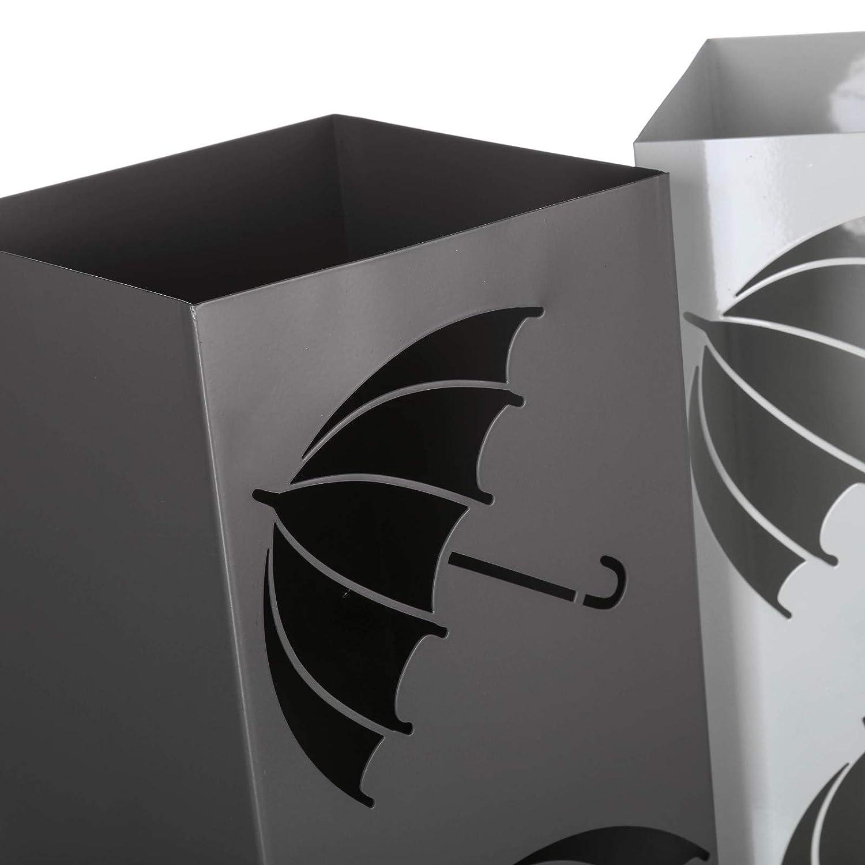 Parag/üero Paraguas Moderno Gris de Metal para la Entrada Fantasy LOLAhome