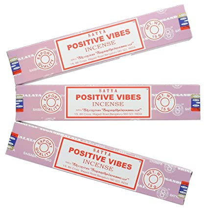 Satya Nag Champa Positive Vibes Incense Sticks - 3 Packs