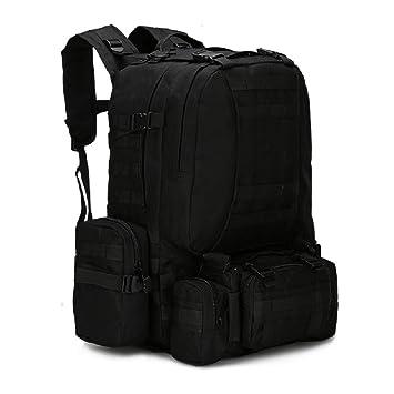 Nuevo 50L Molle táctico mochila Asalto al aire libre militar Mochilas Mochila Camping mochila de viaje, tamaño grande), negro: Amazon.es: Deportes y aire ...