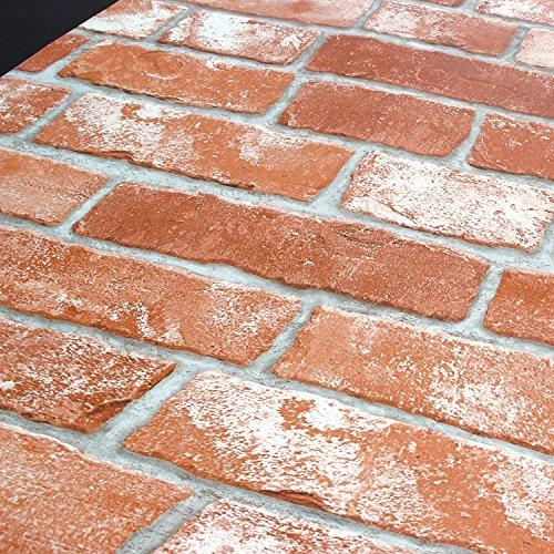 (2-pack Vintage Brick Pattern Contact Paper Self-adhesive Peel-stick Prepasted Wallpaper )