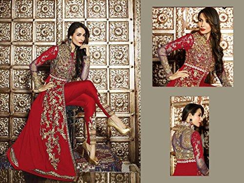 Bollywood Malaika Eid Muslim Ethnic Bridal Ceremony Heavy Designer Women  Dress Hijab Indian Anarkali Salwar Kameez suit 9215