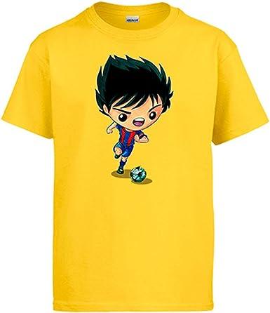 Diver Camisetas Camiseta Chibi Kawaii Oliver y Benji en el Barcelona Parodia fútbol: Amazon.es: Ropa y accesorios