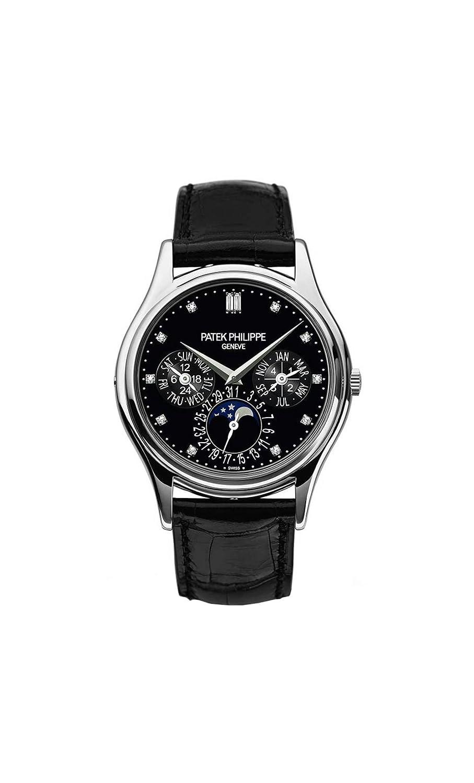 a3ea386ebca Amazon.com  Patek Philippe Grand Complications Moonphase 37mm Platinum Watch  5140P-013  Watches