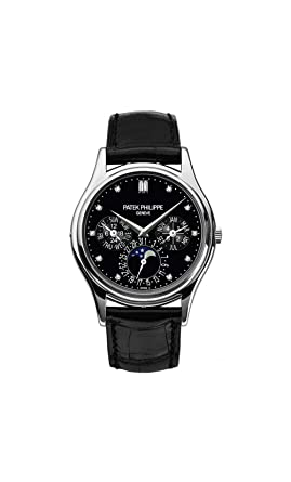 418333385e9 Image Unavailable. Image not available for. Color  Patek Philippe Grand  Complications Moonphase 37mm Platinum Watch ...