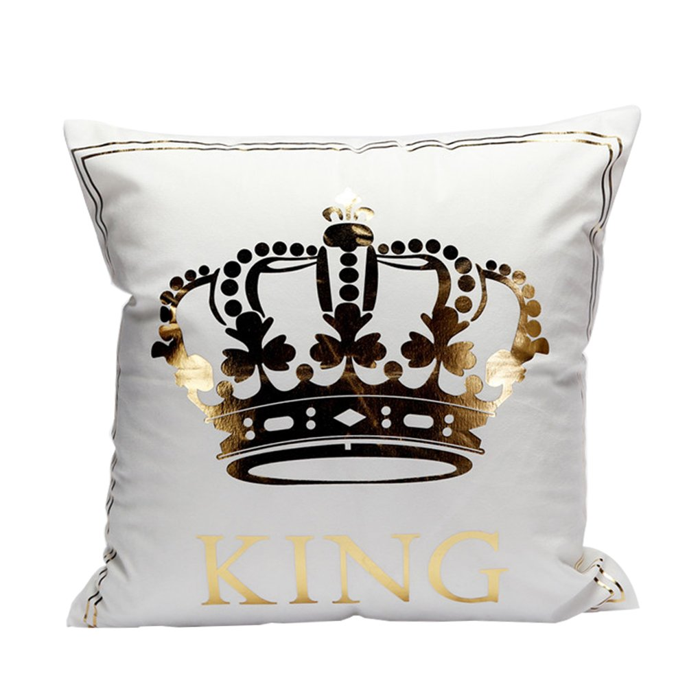 Westeng Golden King modello cuscino morbido cuscino di casa elegante bar sofa Decor quadrato 45 x 45 cm, King, 45*45CM