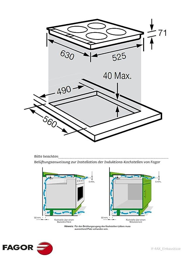 Fagor IF-4AX hobs - Placa (Incorporado, indución eléctrica ...