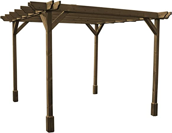 Rutland County Garden Furniture Pérgola Doble Premium, Disponible en 5 tamaños y 2 Colores.: Amazon.es: Jardín