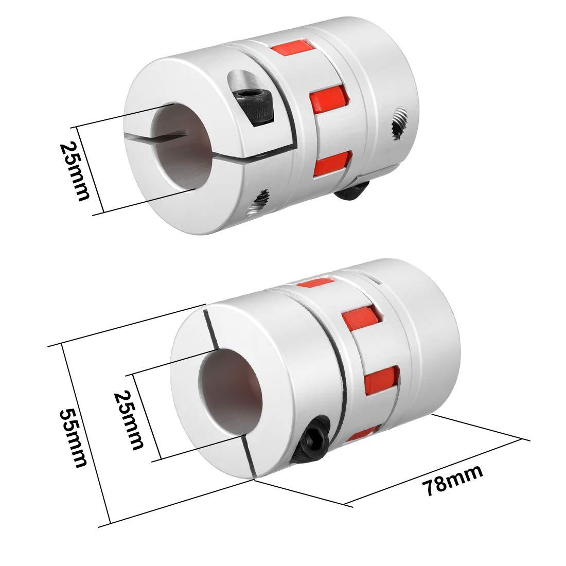 Wellenkupplung Flexibel Koppler für Servomotor 25mm bis 25mm Bohrung L78xD55
