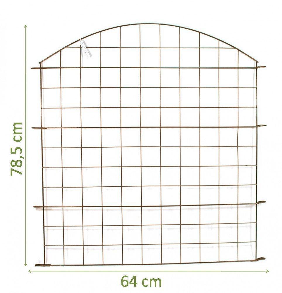 Kit Clôture étang/Kit complet dans différents emballages et formes-lot économique avec arc intérieur et extérieur 5x Oberbogen marron Carstensen