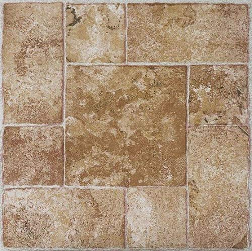 (Best Quality Beige Terracotta Stick Stick self Adhesive Vinyl Floor Tiles - 40 pcs 12