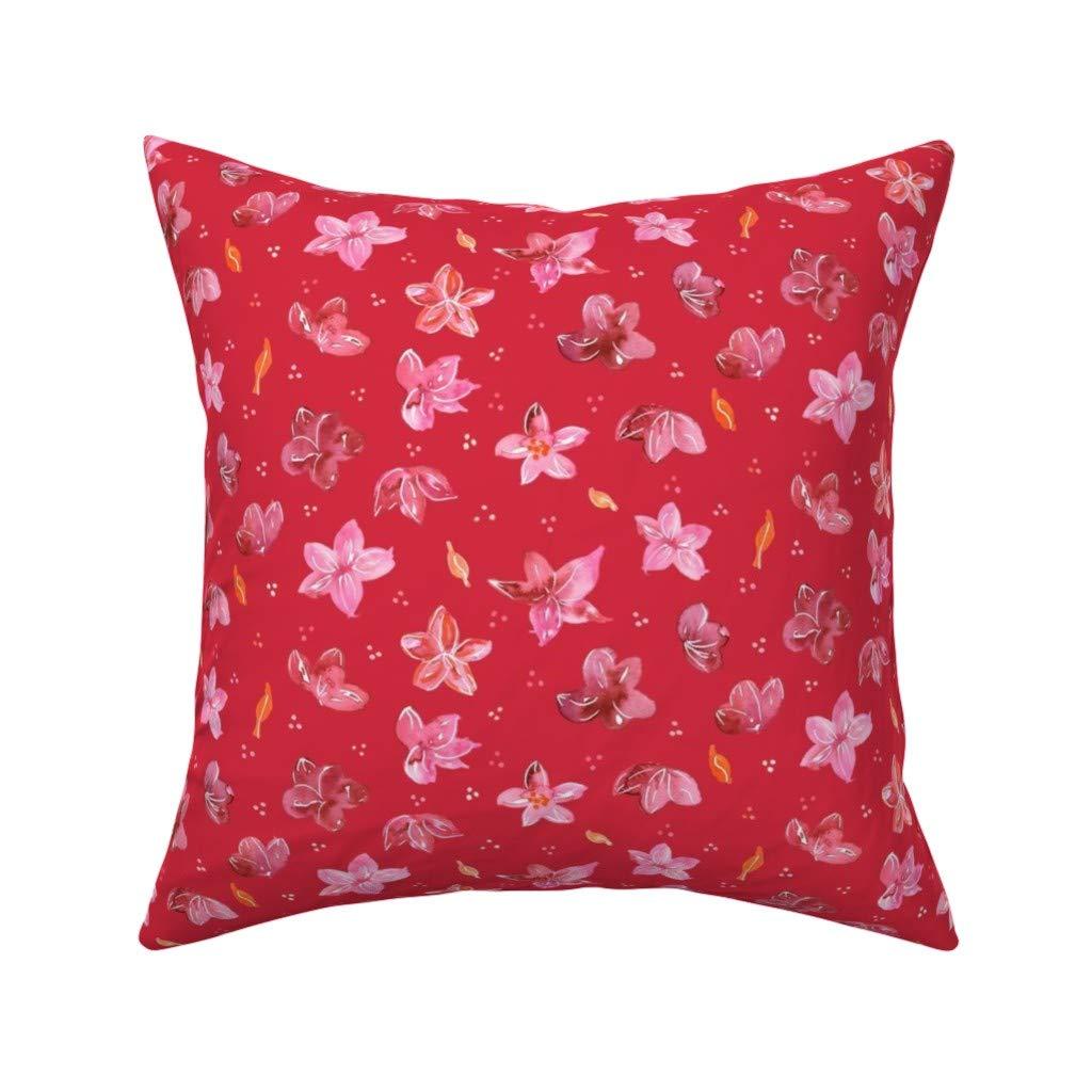 Amazon.com: PMNADOU Pillow,Flower ShowerSquare Pillow Covers ...