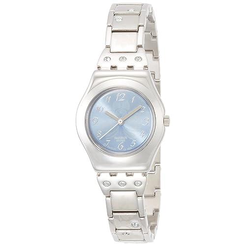 Swatch Reloj Analógico de Cuarzo para Mujer con Correa de Acero Inoxidable – YSS 222G