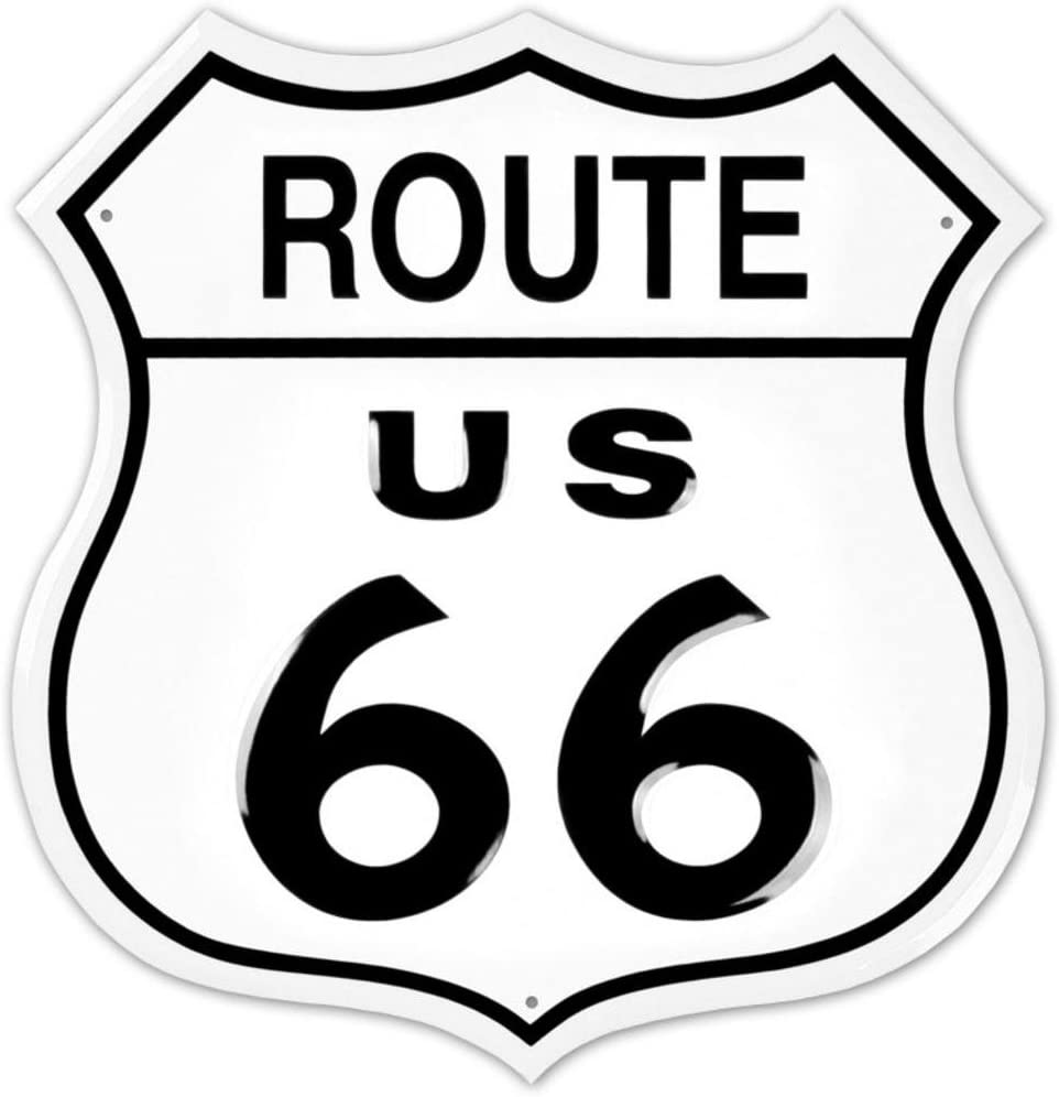 Amazon.com: Route 66 Shield Tin Sign 12 x 12 en: Home & Kitchen
