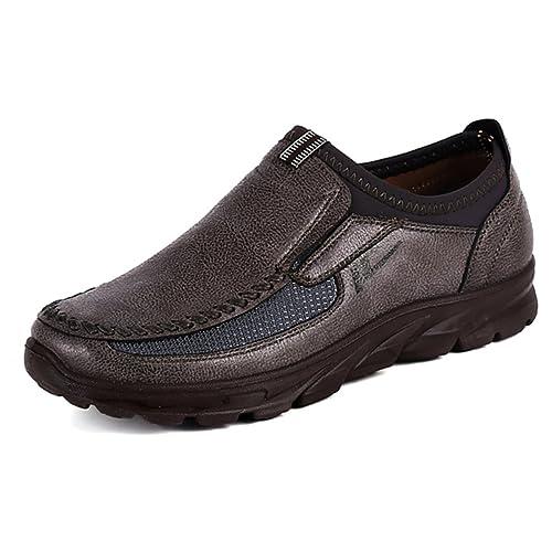 Für Herren On Schuhe Halbschuhe Outdoor Den Sneakers Boots Slip Loafers Gracosy Leder Casual Frühling Freizeitschuhe MokassinFlache DWEH9I2