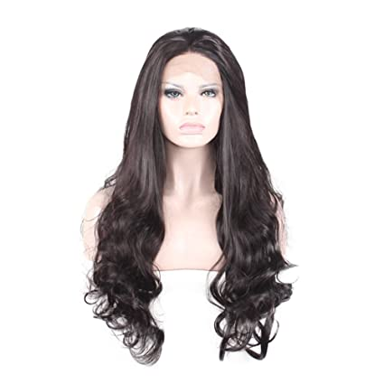 Rokoo Pelucas Sexy Mujer Big Curly Cosplay Peluca Larga Central Parting Negro Fluffy Cabello ondulado para